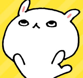 LINEスタンプ,三白眼なウサギ