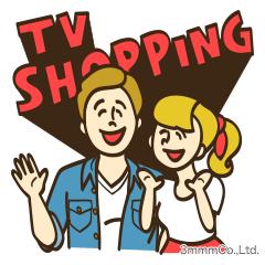 LINEスタンプ,ジョーイとエマのテレビショッピング